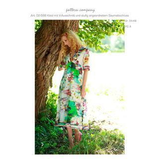 02-598 Kleid m. V-Ausschnitt