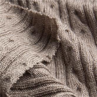 Ariadne taupe, 150 cm Reststück mit kl Loch randlich bei 40 cm