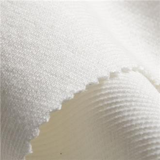 Bündchen weiß, 50 cm Reststück , auf Außenseite stellenweise mittig leicht verschmutzt