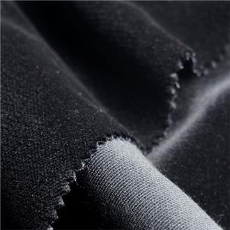 Baumwollsamt schwarz, 115 cm Reststück