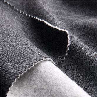 Bio-Baumwollsweat dunkelgrau melange, 400 cm Reststück