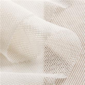 Bio-Baumwolltüll raute weiß