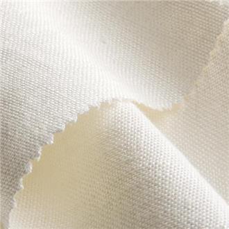 Bio-Linen creme, 100 cm Reststück mit verdicktem Faden von 18-21 cm, ca. 53 cm von Kante