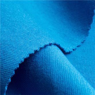 Bio-Rib-Jersey blau