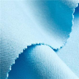 Bio-Rib-Jersey himmelblau, 100 cm Reststück