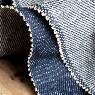 Blue Denim, 280 cm Reststück Faden gezogen, ca. 47 m von Kante, ganze Länge