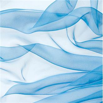 Chiffon F57 himmelblau, 200 cm Reststück