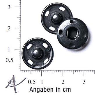 Druckknopf schwarz 15mm