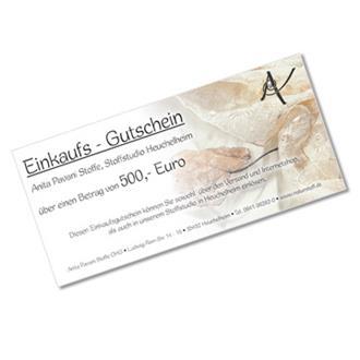 Einkaufsgutschein 500,- EUR