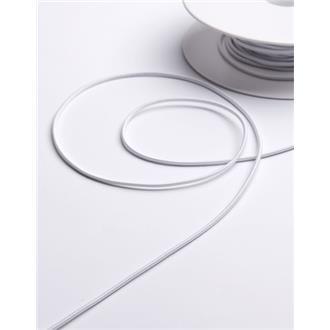 Elastikkordel 3 mm weiß