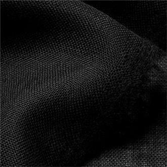 Etamin F80 schwarz, 170 cm Reststück mit Fehler (s. Beschreibung)