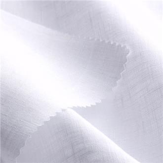 Feinleinenbatist weiß, 120 cm Reststück mit Webfehler bis 33 cm, ca. 42 cm von Kante