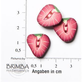 Fimo Erdbeere, rot