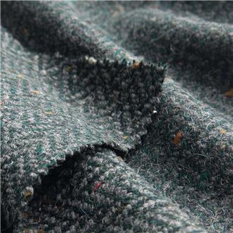 Fischgrattweed waldgrün - Grau