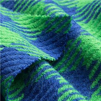 Grün und Blau im Karo