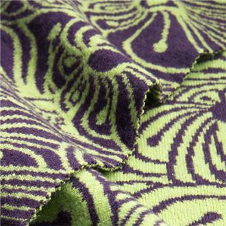 Griscona limette lila, 135 cm Reststück mit Strickfehler in einer Ecke 10x10 cm