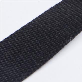 Gurtband 3cm schwarz, 440 cm Reststück