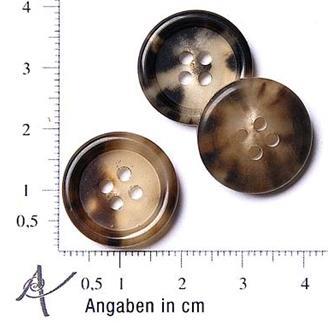 Horn braun-beige 18mm