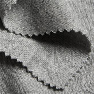 Interlock melangegrau, 75 cm Reststück
