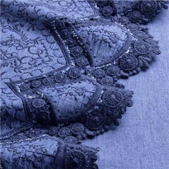 Jeansbordüre dunkelblau