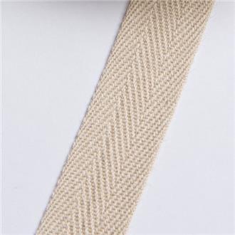 Köperband 14 beige, 345 cm Reststück