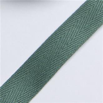 Köperband 14 dunkelgrün, 235 cm Reststück