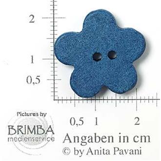 "Keramik-Blume blau 34"""