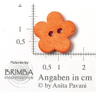 "Keramik-Blume orange 26"""