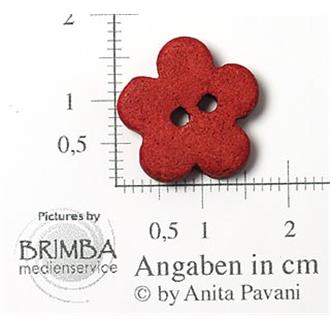 "Keramik-Blume rot 26"""