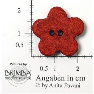 "Keramik-Blume rot 34"""