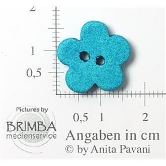 "Keramik-Blume türkis 26"""