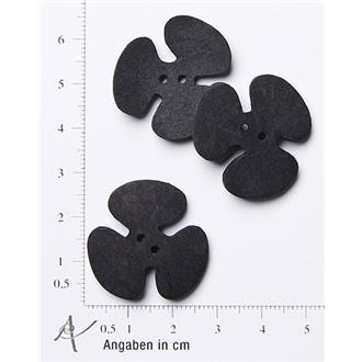 Kleeblatt klein schwarz