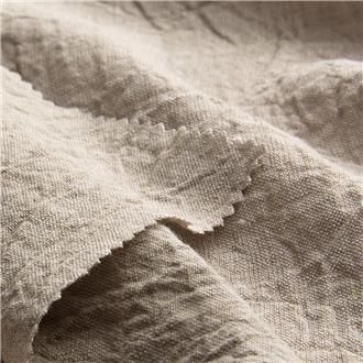 Krepp beige-ocker, 130 cm Reststück