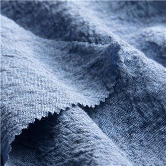 Krepp blau-grau