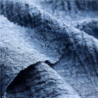 Krepp blau-schwarz