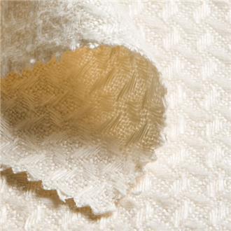 Leinen-Waffelpique creme, 150 cm Reststück
