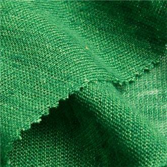 Leinensingle sommergrün, 95 cm Reststück mit Fehler (s. Beschreibung)