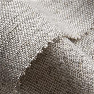 Lino natur meliert, 470 cm Reststück,  mit Webfehlern in der kompletten Breite, bei 20cm und 260cm