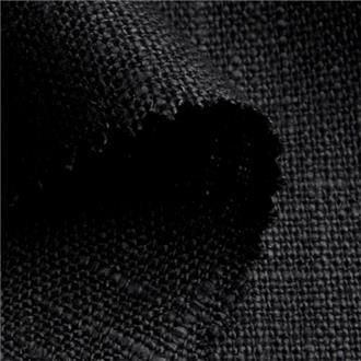 Lino schwarz , 250 cm Reststück mit einem hellen Faden bei 70cm, ca. 40cm vom Rand entfernt