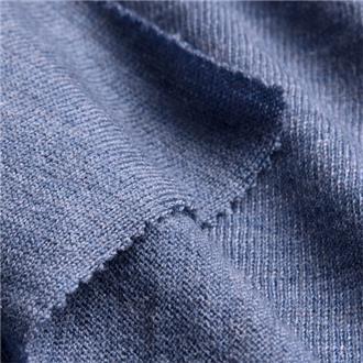 Merino-Feinjersey jeans, 120 cm Reststück