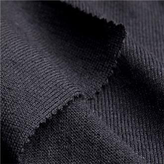 Merino-Feinjersey schwarz, 270 cm Reststück