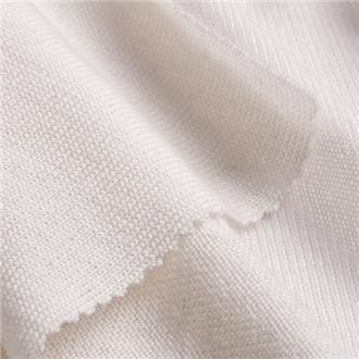 Merino-Feinjersey weiß, 195 cm Reststück  mit Laufmasche (2 cm) bei ca. 85 cm, ca. 70 cm von Kante