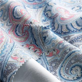 Paisley-Cord blau