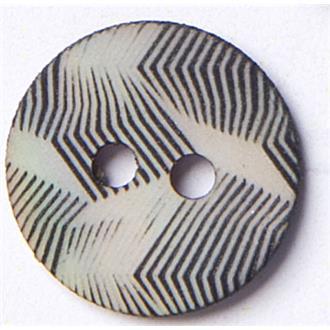 Perlmutt gekämmt schwarz 11mm