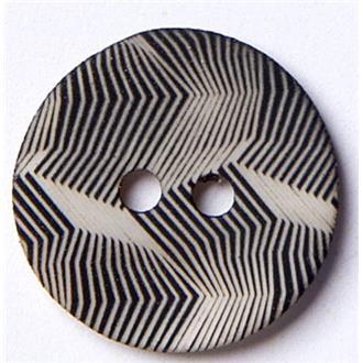 Perlmutt gekämmt schwarz 15mm
