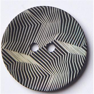 Perlmutt gekämmt schwarz 23mm