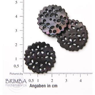 """Perlmuttblüte 36""""schwarz"""