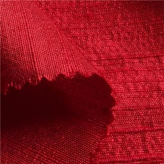 Shantung kirsche, 110 cm Reststück mit Webfehlern