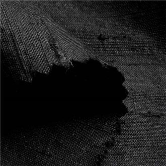 Shantung schwarz, 100 cm Reststück mit Webfehler in Breite