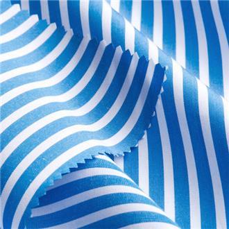 Striped blue, 155 cm Reststück